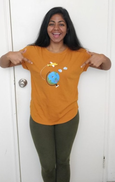 All set to attend TravelCon in my favorite travel shirt!