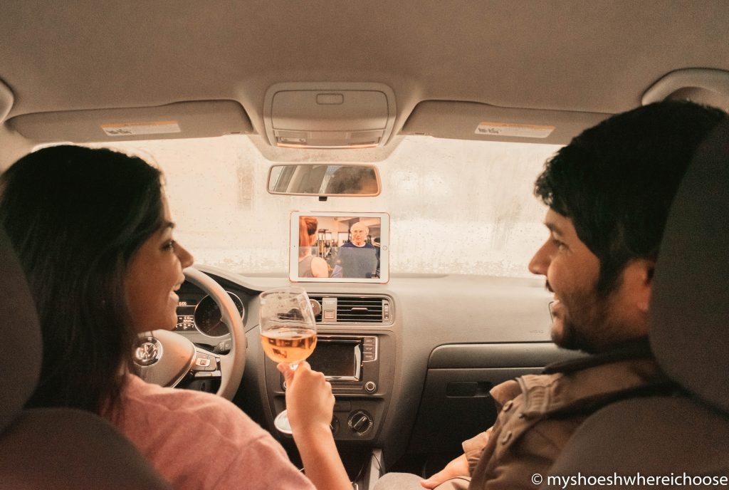 Mental health during Covid-19 - do things differently - watching a movie in the car
