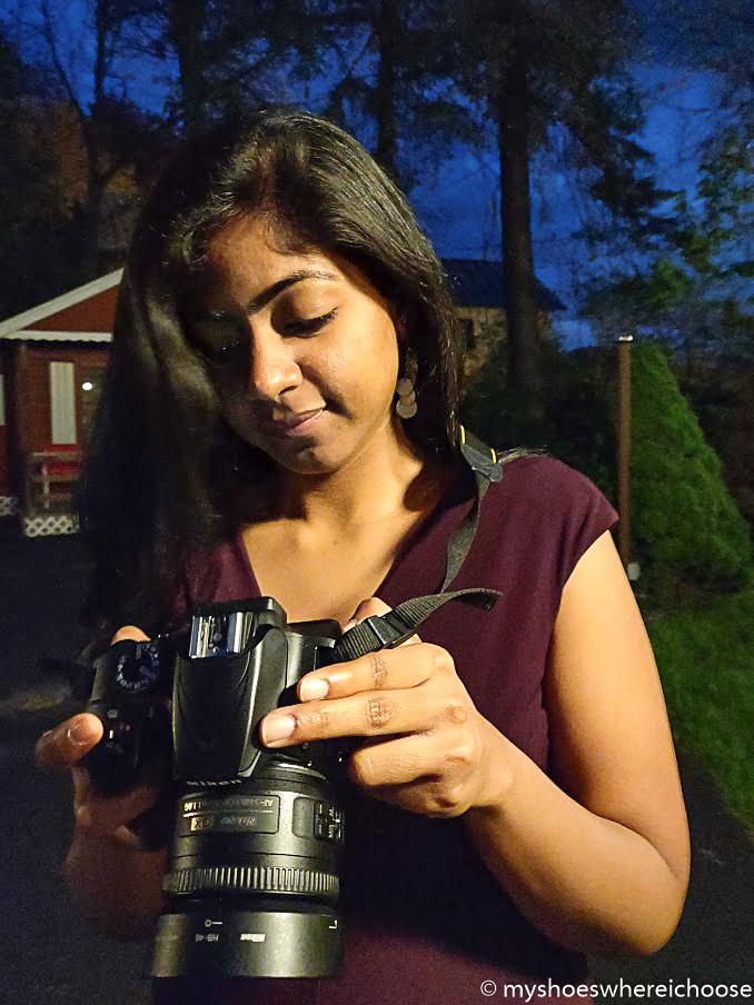 Girl with Nikon D3400 camera