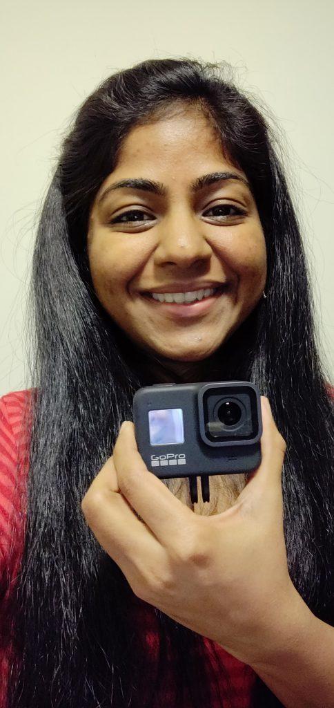 Girl with GoPro Hero 8