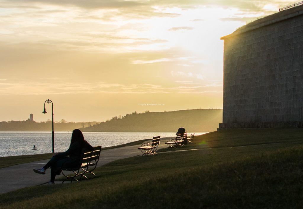 Golden Sunrise at Castle Island Boston